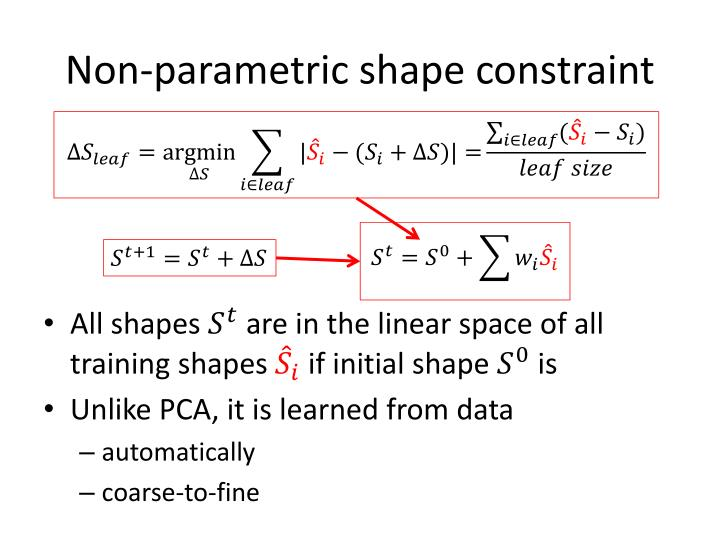 Non-parametric shape constraint