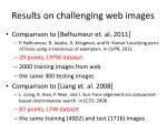 results on challenging web images