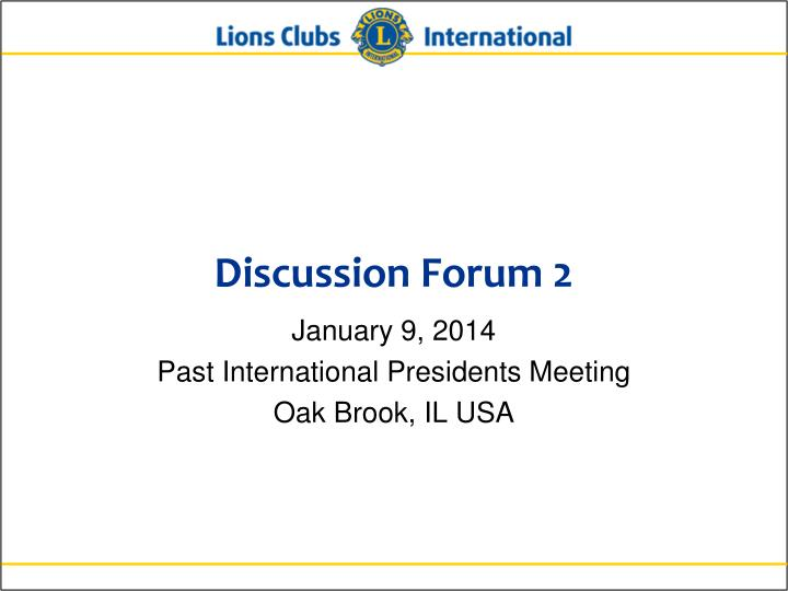 Discussion Forum 2