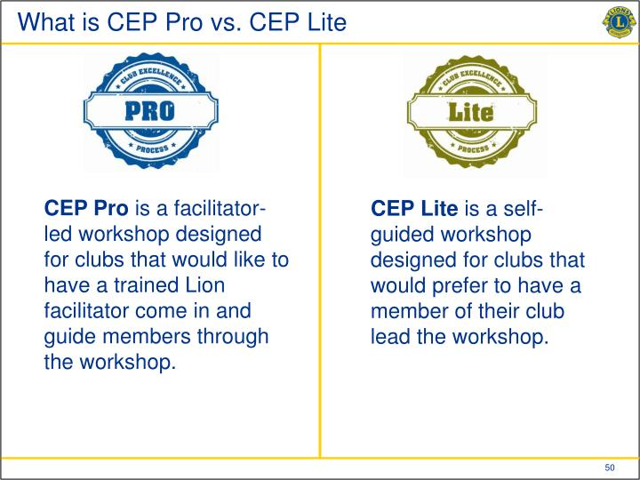 What is CEP Pro vs. CEP Lite