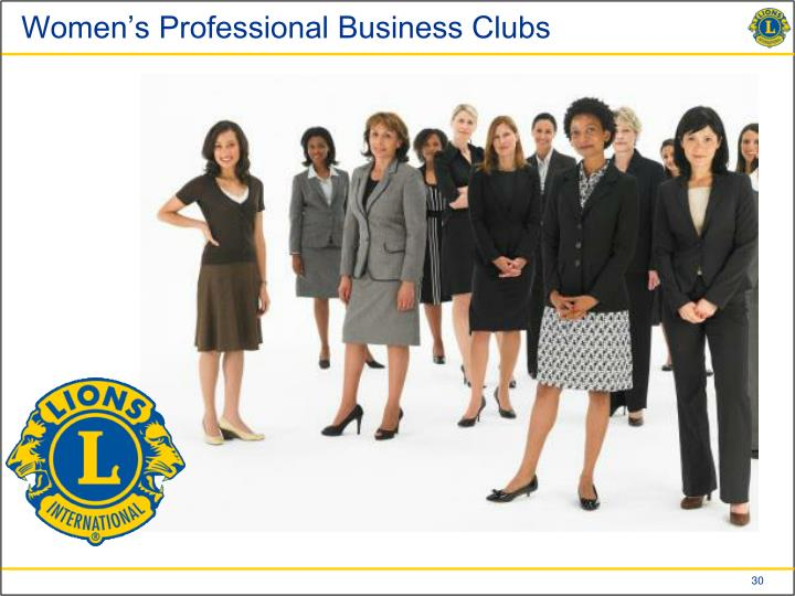 Women's Professional Business Clubs
