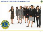 women s professional business clubs