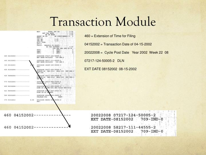 Transaction Module