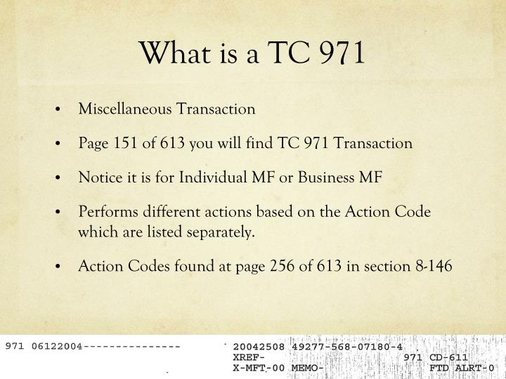What is a TC 971