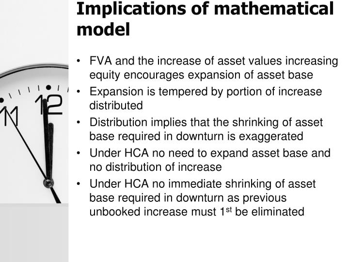 Implications of mathematical model