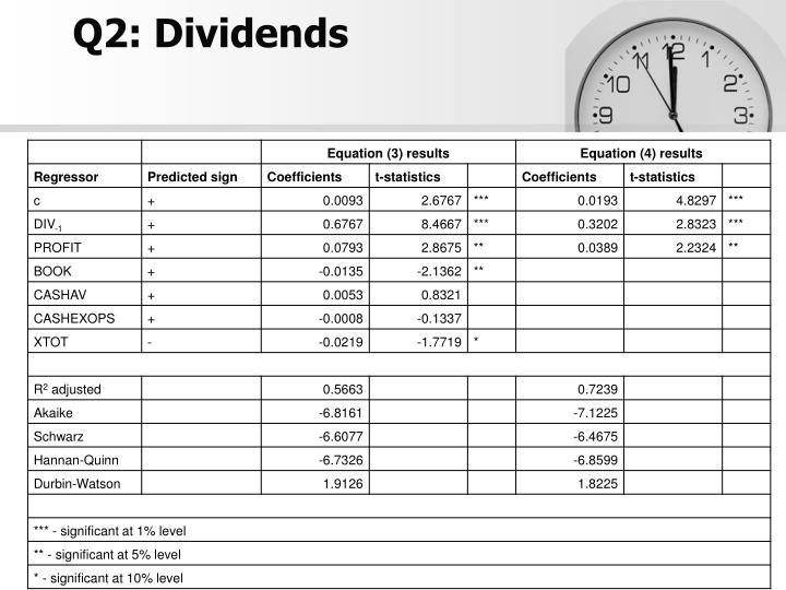 Q2: Dividends