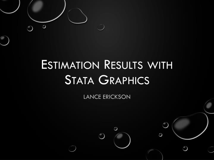 Estimation results with stata graphics