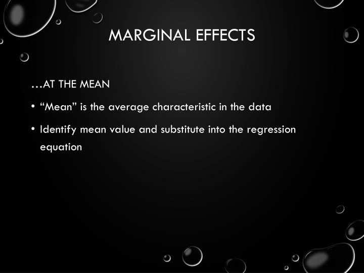 Marginal Effects