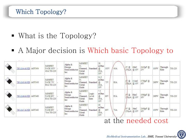 Which Topology?