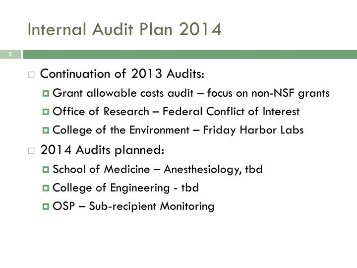 Internal Audit Plan 2014