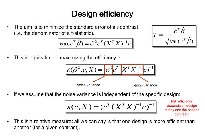 Design efficiency