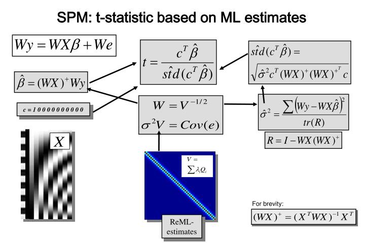 SPM: t-statistic based on ML estimates