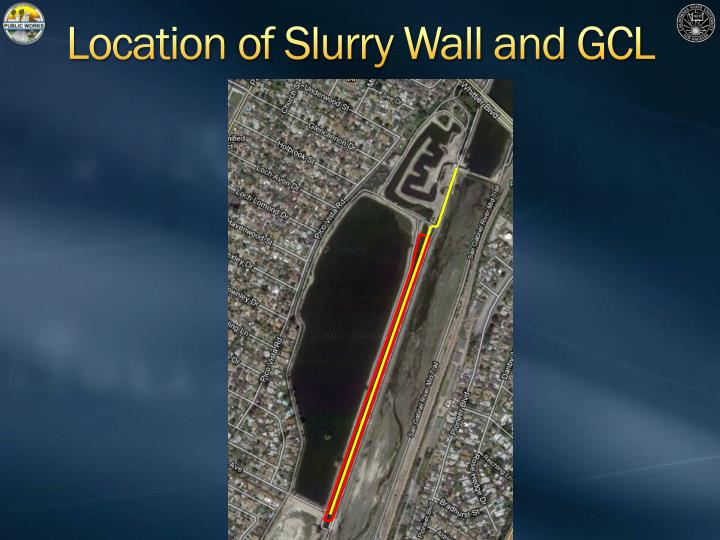 Location of Slurry Wall and GCL