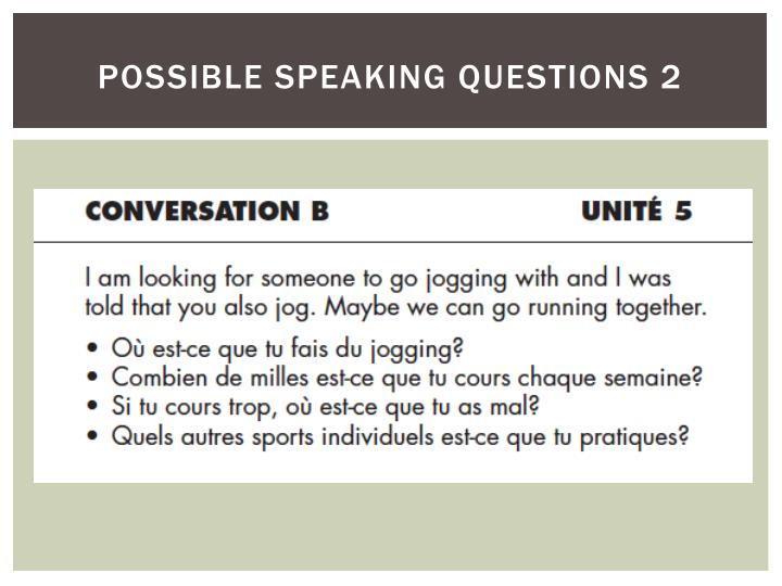 possible speaking questions 2