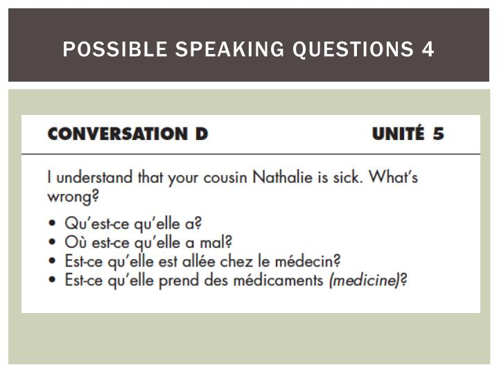 possible speaking questions 4