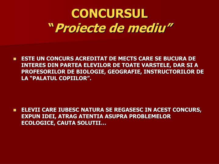 CONCURSUL