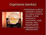 organizarea standului