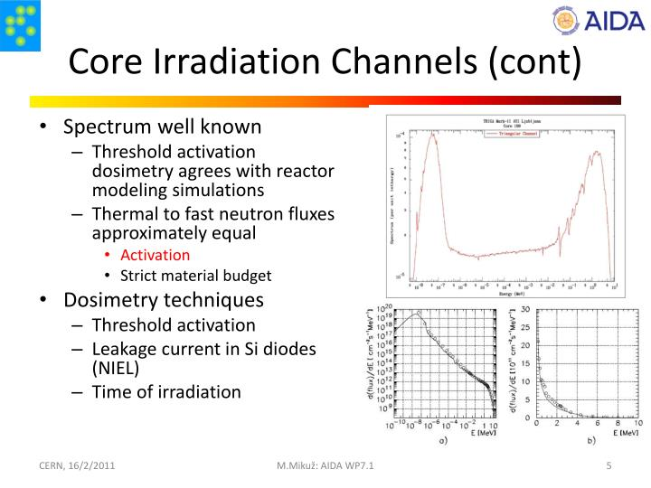 Core Irradiation Channels (cont)