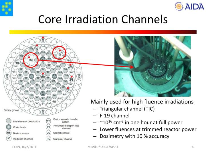 Core Irradiation Channels