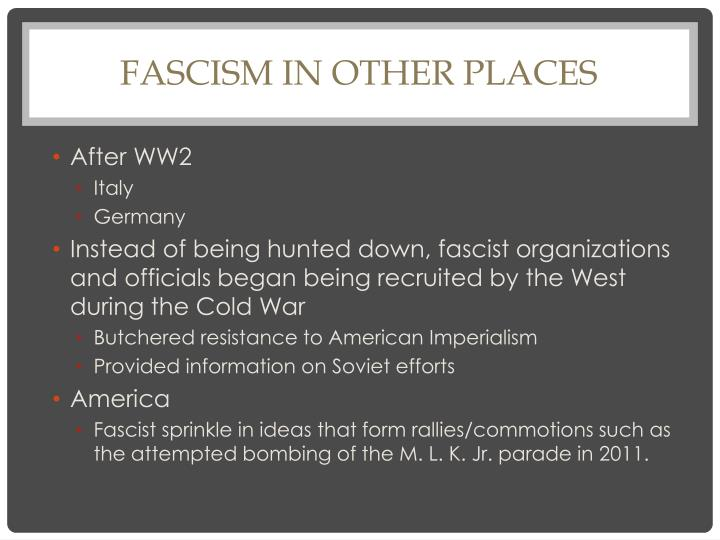 Fascism in Other Places