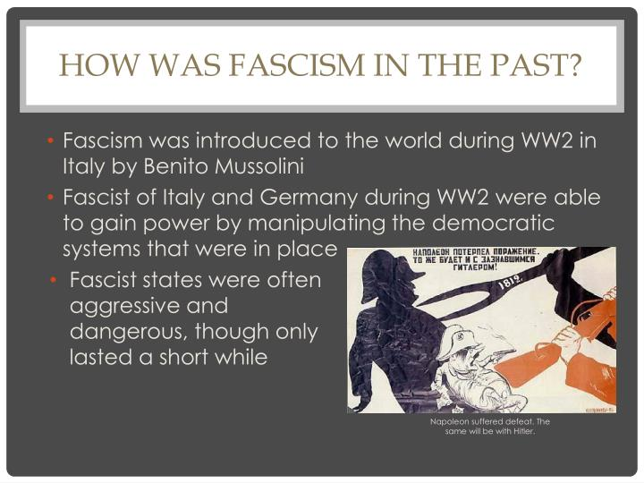 How was Fascism in the Past?