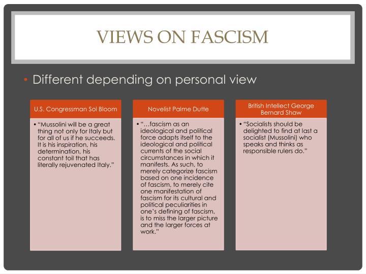 Views on fascism