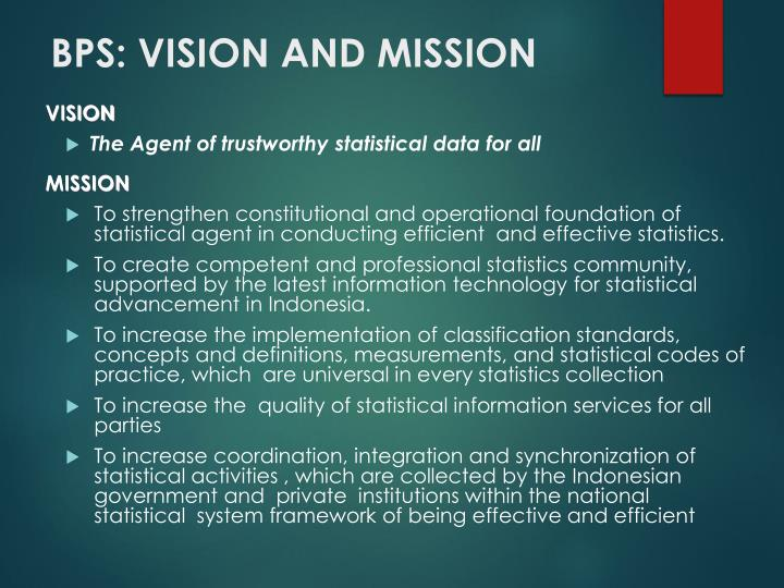 BPS: VISION AND MISSION