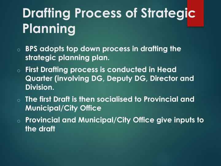 Drafting Process of Strategic Planning