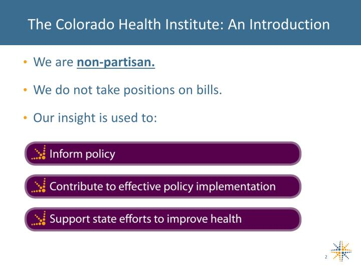 The Colorado Health Institute: An Introduction