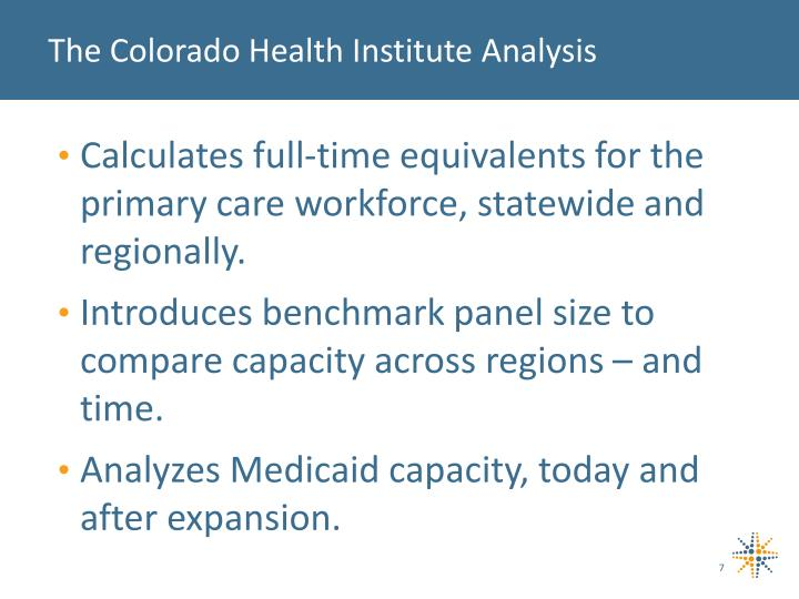 The Colorado Health Institute Analysis