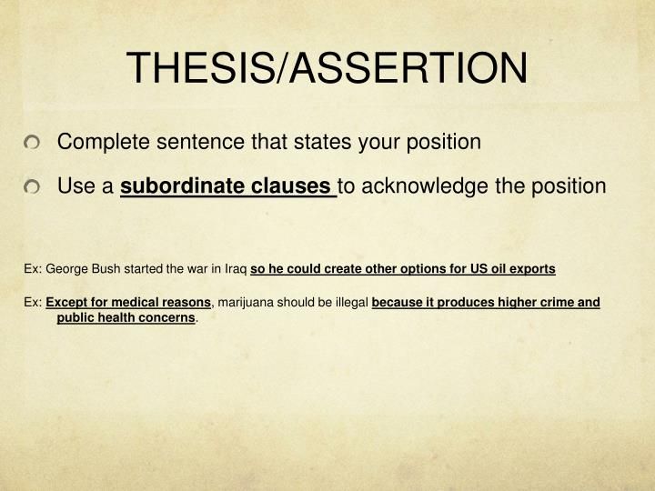 THESIS/ASSERTION