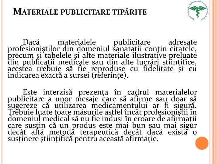 Materiale publicitare tipărite