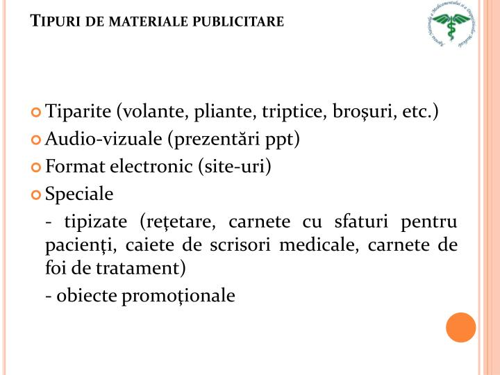 Tipuri de materiale publicitare