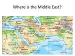 where is the middle east2