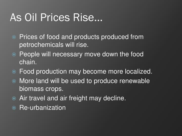 As Oil Prices Rise…