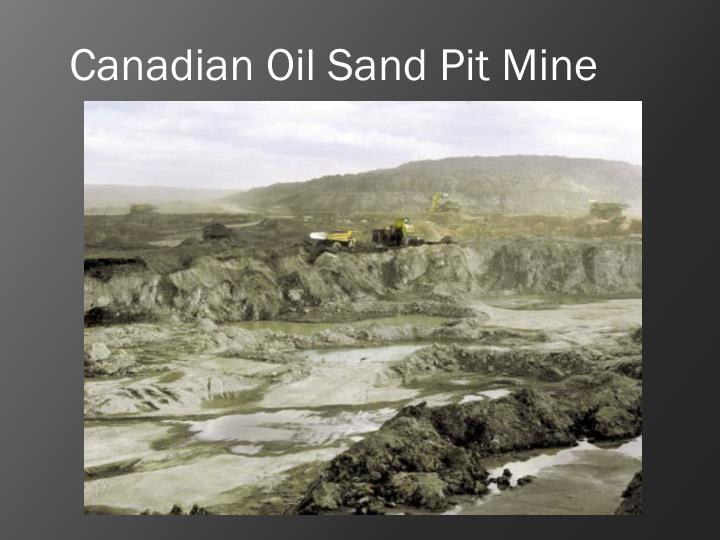 Canadian Oil Sand Pit Mine