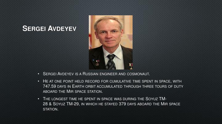 Sergei Avdeyev