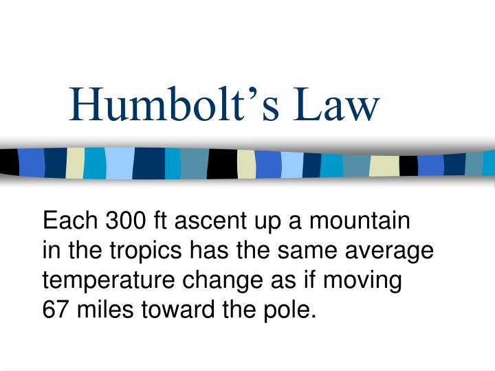 Humbolt's Law
