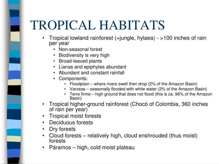 TROPICAL HABITATS