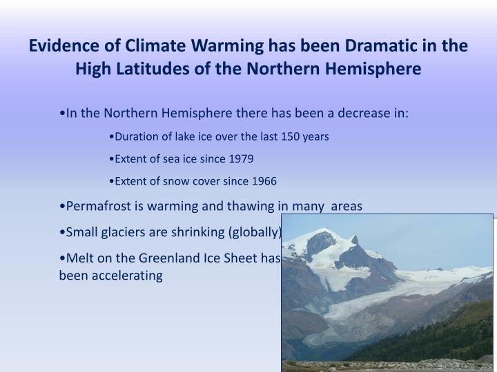 Evidence of Climate Warming