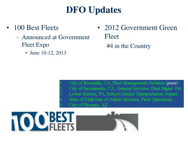 DFO Updates