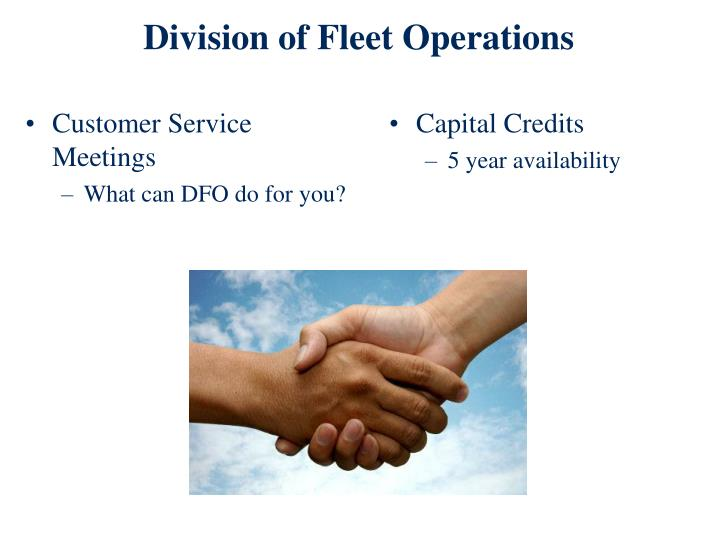Division of Fleet Operations