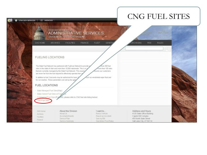CNG FUEL SITES