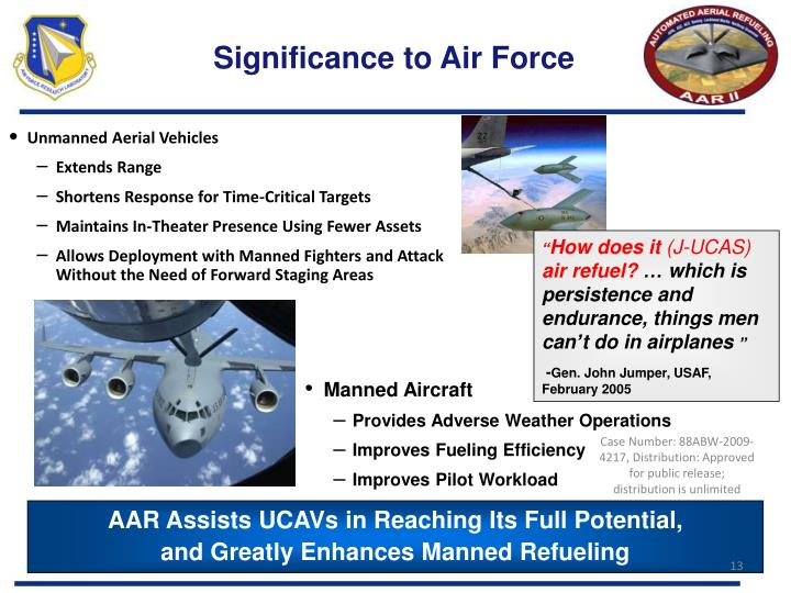 Significance to Air Force