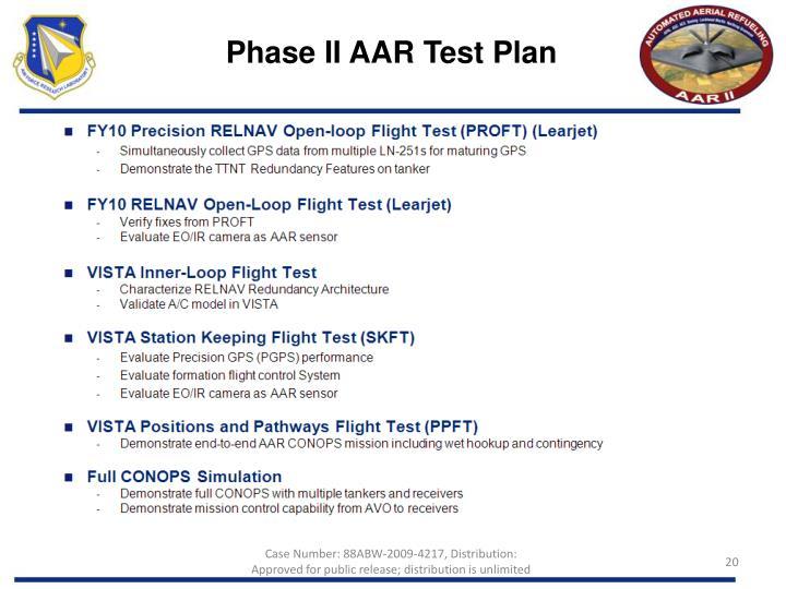 Phase II AAR Test Plan