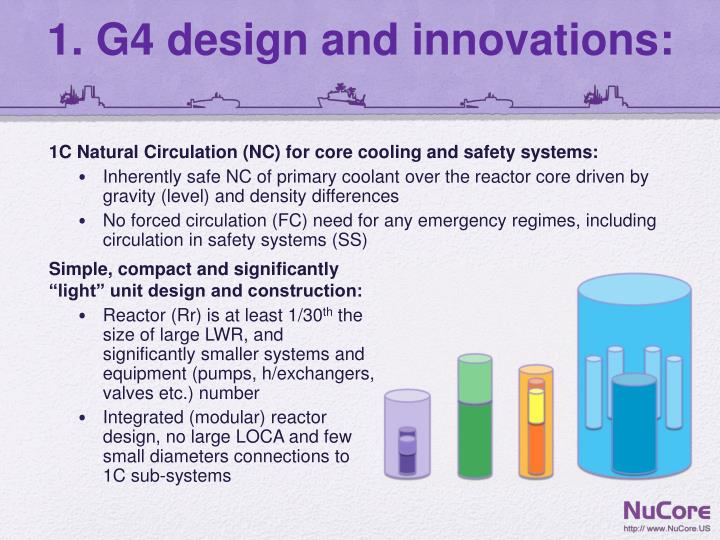 1 g4 design and innovations