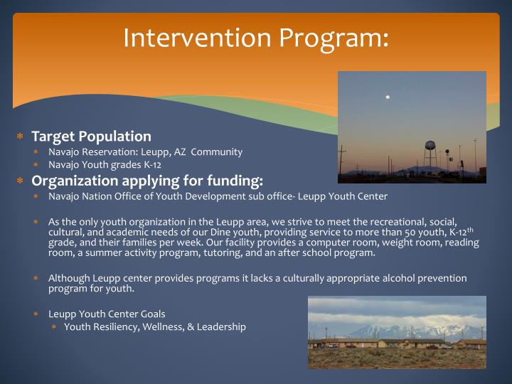 Intervention Program: