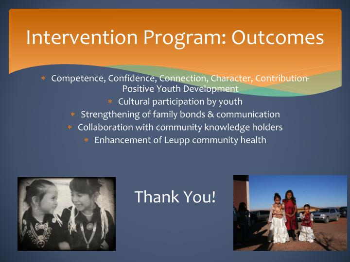 Intervention Program: Outcomes