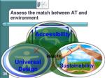assess the match between at and environment