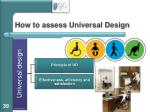 how to assess universal design